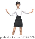 商务装女人3DCG插画素材 68142226
