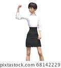 商务装女人3DCG插画素材 68142229
