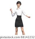 商务装女人3DCG插画素材 68142232