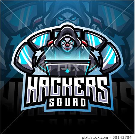 Hackers esport mascot logo design 68143784