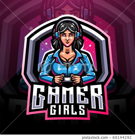 Gamer girls esport mascot logo 68144292