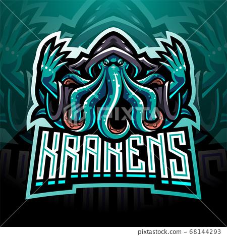 Kraken octopus esport mascot logo design 68144293