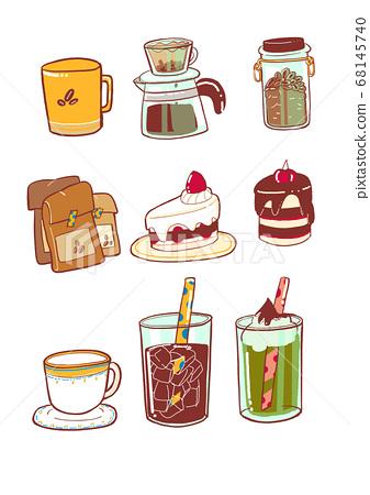 카페 커피 일러스트 68145740