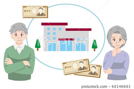 困擾著養老院成本的老人的插圖 68146681