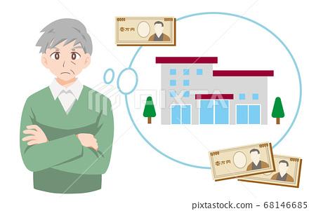 困擾著養老院成本的老人的插圖 68146685
