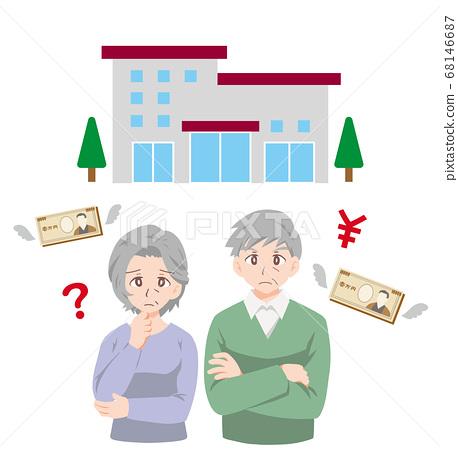 困擾著養老院成本的老人的插圖 68146687
