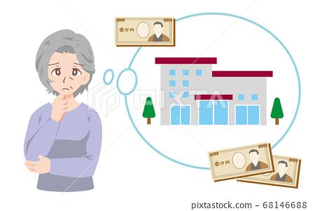 困擾著養老院成本的老人的插圖 68146688