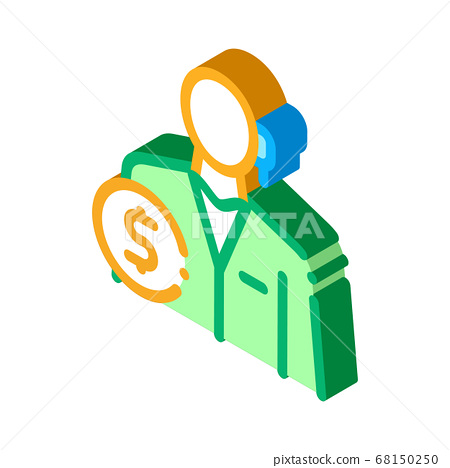 accountant profession isometric icon vector illustration 68150250