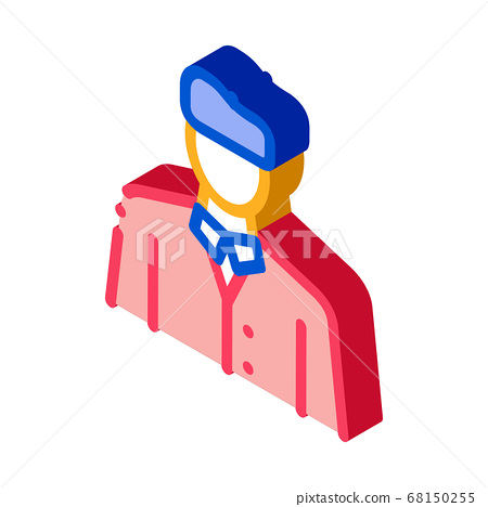 artist profession isometric icon vector illustration 68150255