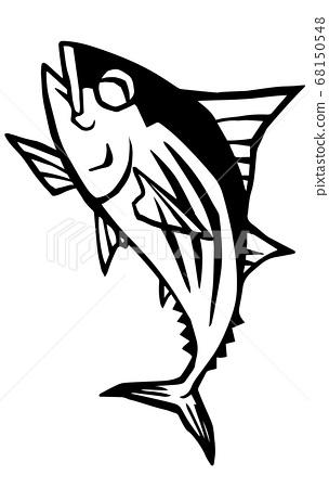 p魚插圖素材 68150548