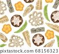 닭고기 요리 조림 차지하고 모양 수채화 풍의 일러스트 68156323