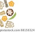 닭고기 요리 조림 차지하고 복사 공간 수채화 풍의 일러스트 68156324