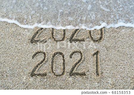 2021년 새해 달력용 숫자 자료 68158353
