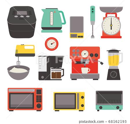 廚房電器廚房雜貨矢量圖標集 68162193