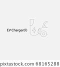 BEV,EV,Battery Electric Vehicle Icon.Electric car 68165288