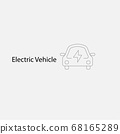 BEV,EV,Battery Electric Vehicle Icon.Electric car 68165289