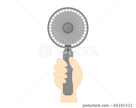 Handy fan illustration 68165312
