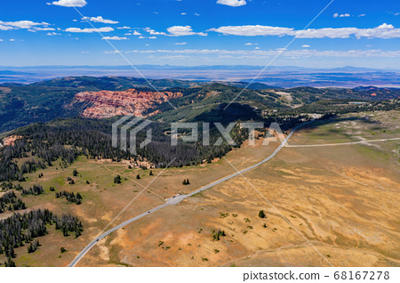 Aerial view of the beautiful Cedar Breaks National 68167278