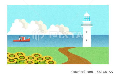 여름 바다의 풍경 68168155