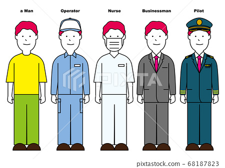 [Profession series] Characters that are simple but stand out with vividness 68187823