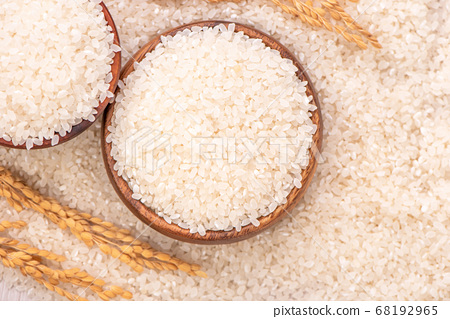 米 原料 生的 白米 頂視圖 raw rice ingredient 白ごはん  68192965