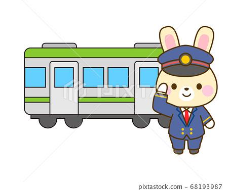 車站工作人員的插圖 68193987