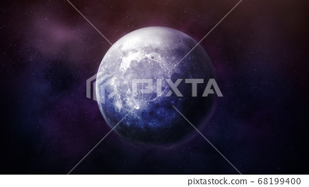 Fantastic view of the moon in space. 68199400