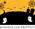 萬聖節插畫背景設計 68207623