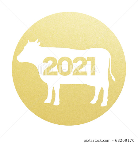 2021 년 소띠 연하장 소재 68209170