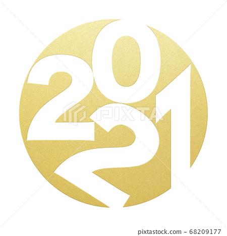 2021 년 소띠 연하장 소재 68209177