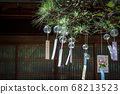 Wind chimes in front of the lattice door (Obusa Kannon, Nara) 68213523