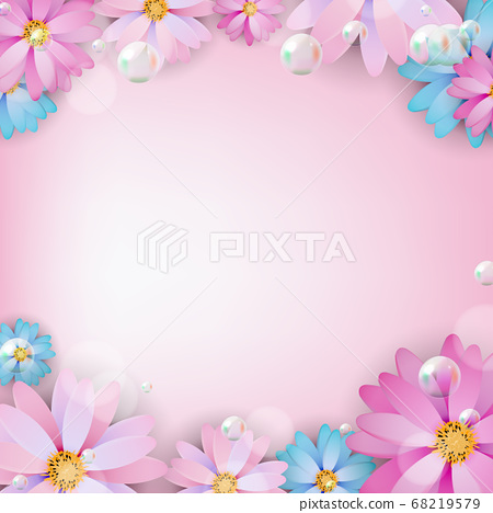 Abstract colored Natural Flower Background. Vector 68219579