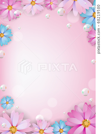 Abstract colored Natural Flower Background. Vector 68219580