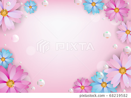 Abstract colored Natural Flower Background. Vector 68219582