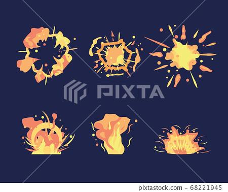 Cartoon explosion set 68221945