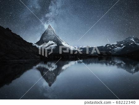 Milky way above Matterhorn, Switzerland.  68222340