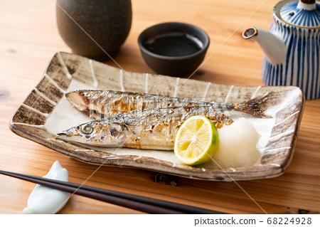 薩拉米香腸烤秋刀魚 68224928