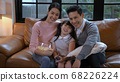 Family concept. An Asian family is watching 68226224