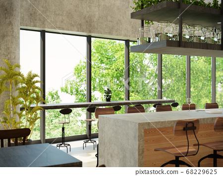 室內圖像咖啡館 68229625