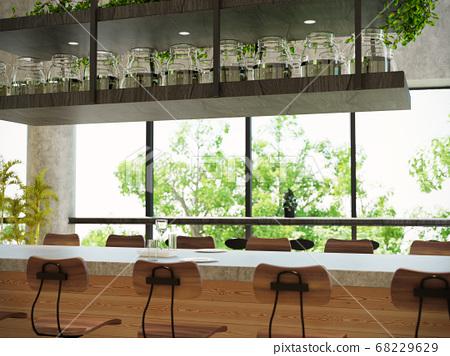 室內圖像咖啡館 68229629