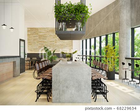 室內圖像咖啡館 68229634