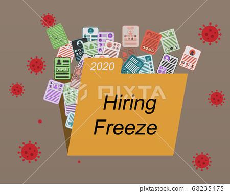 vector, virus, employment 68235475