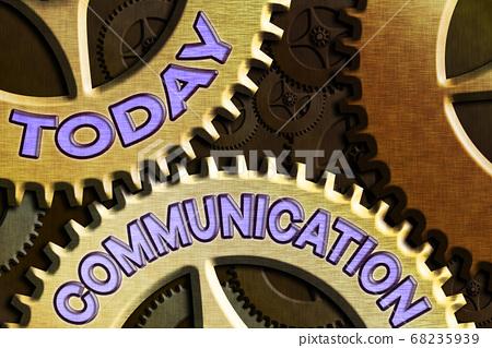 Conceptual hand writing showing Communication 68235939