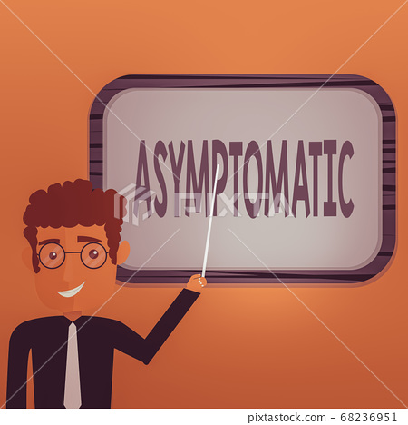 Word writing text Asymptomatic. Business concept 68236951