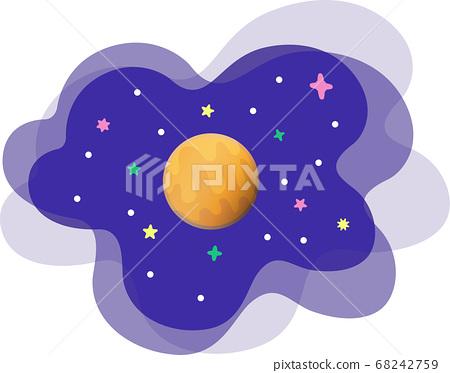 우주 배경에 금성의 일러스트 68242759