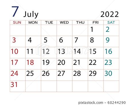 2022年7月日曆 68244290