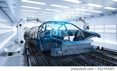 Automation aumobile factory 68245663