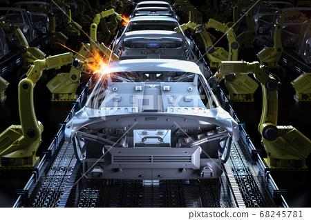 Automation aumobile factory 68245781