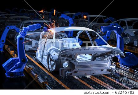 Automation aumobile factory 68245782