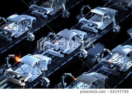 Automation aumobile factory 68245786